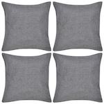 Калъфки за възглавници 40x40 см vidaXL, 4 броя Сиво