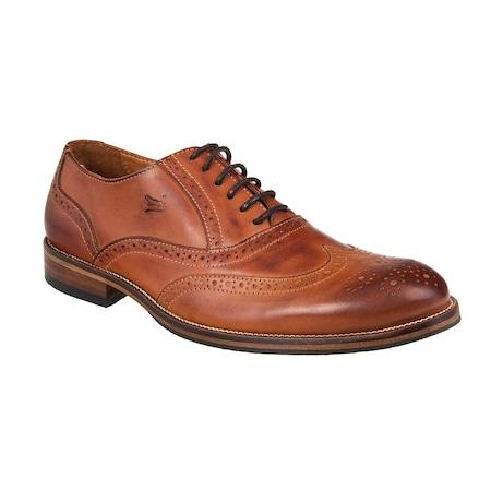 Pantofi barbati din piele naturala Lagarto maro 43