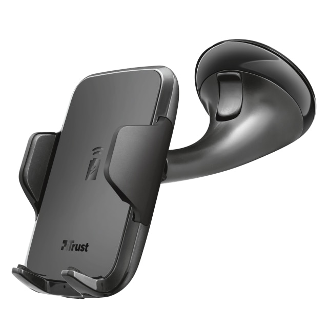 Fotografie Suport auto cu incarcare wireless Trust Yudo 10, Fast charging, 7.5W+10W, Black