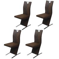 vidaXL 4 db barna szövet étkező szék (2x242762)