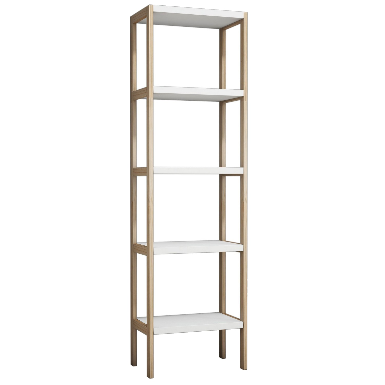 Fotografie Etajera Puqa Design, 170x49x30 cm, lemn de pin, alb