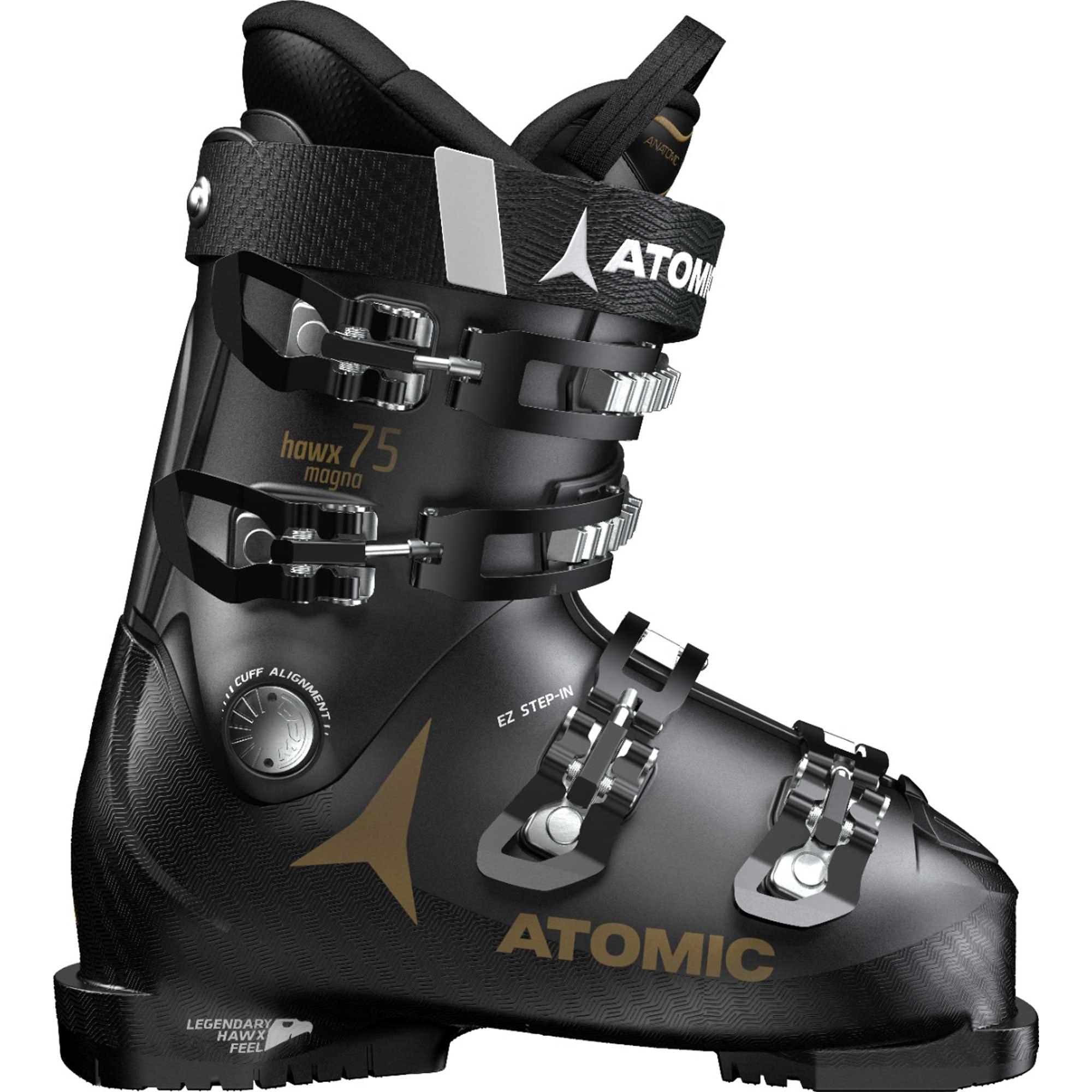 Fotografie Clapari ski Atomic Hawx Magna 75 pentru femei, Black/Gold, Negru/Auriu, 27, 27.5