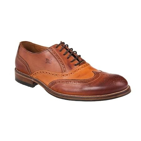 Pantofi barbati din piele naturala Lagarto cognac 42
