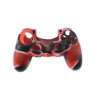 PS4 sorozat - Kontrollerhez szilikon borítás - terep piros/fekete