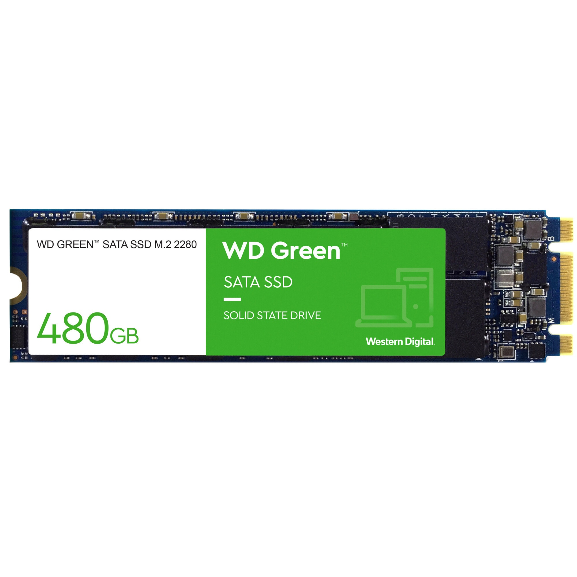 Fotografie Solid-State Drive (SSD) WD Green, 480GB, M.2, 3D NAND