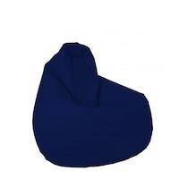 Пуф Pufrelax фотьойл тип круша за деца от 2-10 години, Nirvana Light - Teteron Indigo, Пълнеж от Полистиролни перли, Перящ се текстилен калъф