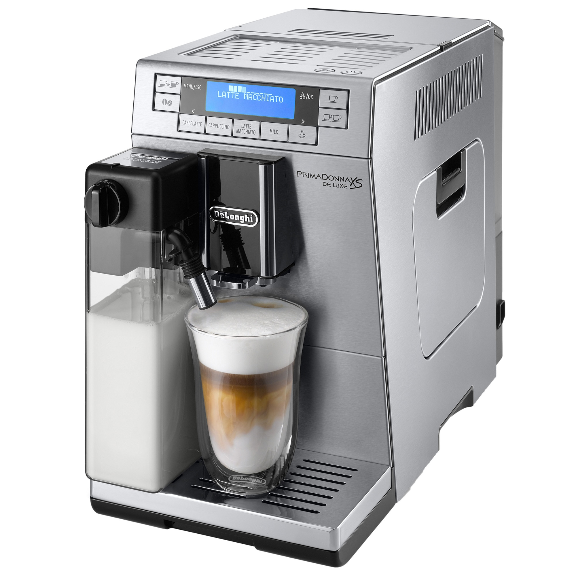 Fotografie Espressor Automat De'Longhi Prima Donna XS De Luxe ETAM 36.365 M, 1450 W, 15 bar, 1.3 L, Argintiu