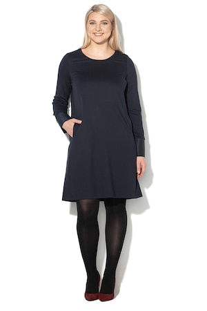 PERSONA BY MARINA RINALDI, Разкроена къса рокля Orafo, Тъмносин, L