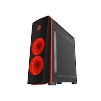 Геймърска система SmartPC Red Titan Gaming System с процесор Intel Core ™ i5-8400 Coffee Lake, 2.80GHz, 16GB DDR4 RAM, 240GB M.2 SSD, 1TB SATA HDD, GeForce® GTX 1650 Super 4GB, Клавиатура, Мишка, Слушалки