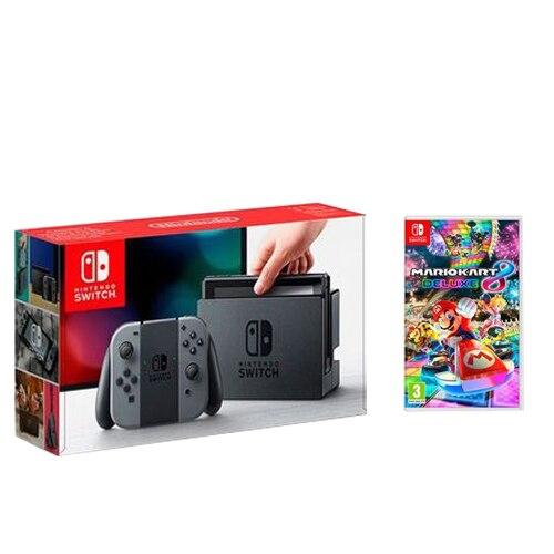 Fotografie Consola Nintendo Switch plus jocul Mario Kart 8 Deluxe