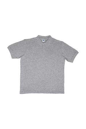 Férfi galléros póló rövid ujjú SG Cotton Polo Világos Oxford, Világos Oxford