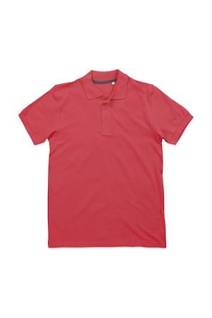 Férfi galléros póló rövid ujjú Stedman Harper Polo Salmon Pink, Salmon Pink