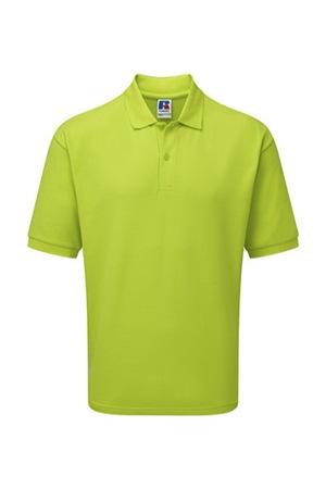 Férfi galléros póló rövid ujjú Russell Europe Polo Blended Fabric Lime, Lime-zöld