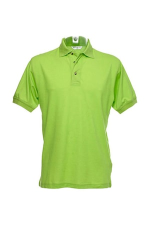 Férfi galléros póló rövid ujjú Kustom Kit Workwear Polo/Superwash Lime, Lime-zöld