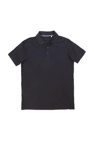 Férfi galléros póló rövid ujjú Stedman Harper Polo Opál fekete, Opál fekete