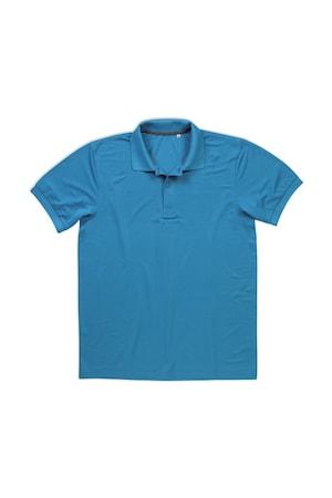 Férfi galléros póló rövid ujjú Stedman Active Piqué Polo Hawaii kék, Hawaii kék