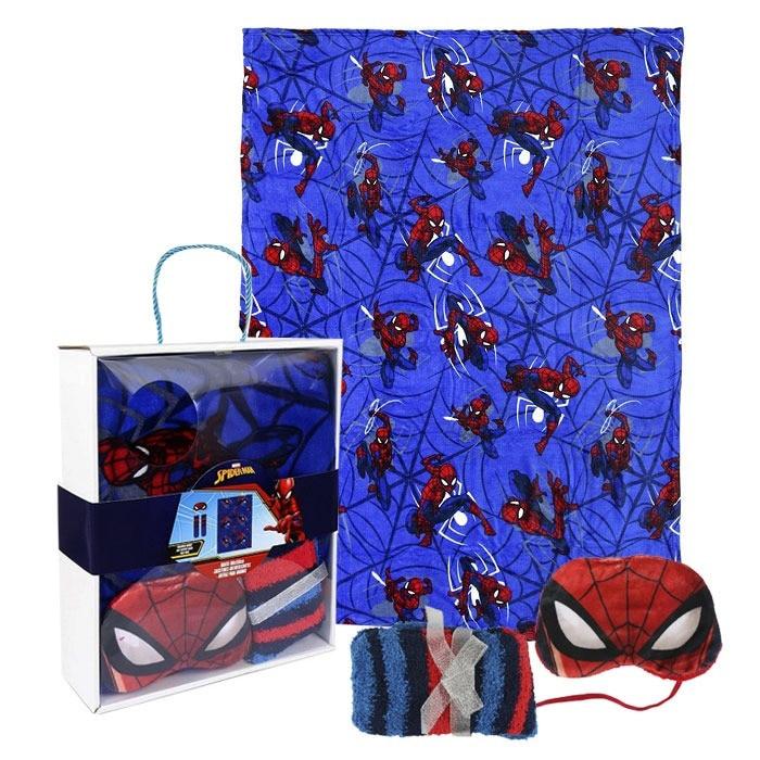 Spiderman takaró ajándékszett