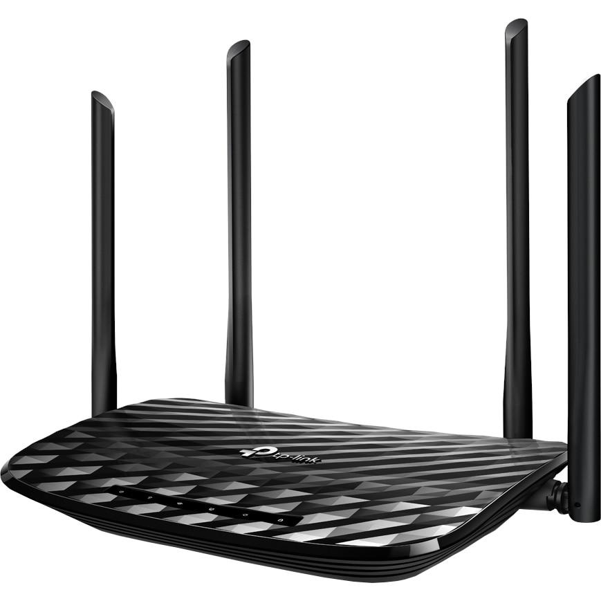 Fotografie Router wireless TP-Link Archer C6, AC1200, Gigabit, Dual-Band, Negru