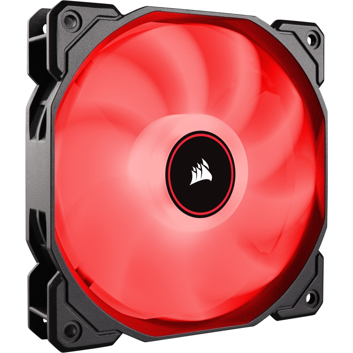 Fotografie Ventilator PC Corsair AF140 LED Low Noise Cooling Fan, 1200 RPM, Single Pack - Red