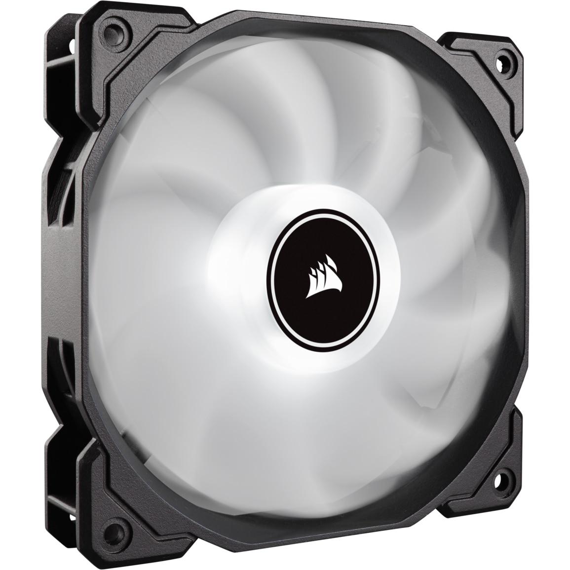 Fotografie Ventilator PC Corsair AF140 LED Low Noise Cooling Fan, 1200 RPM, Single Pack - White