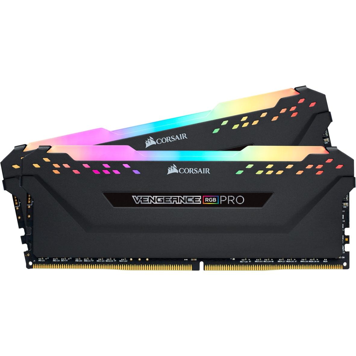 Fotografie Memorie Corsair Vengeance RGB PRO 32GB, DDR4, 3200MHz, CL16, Dual Channel Kit
