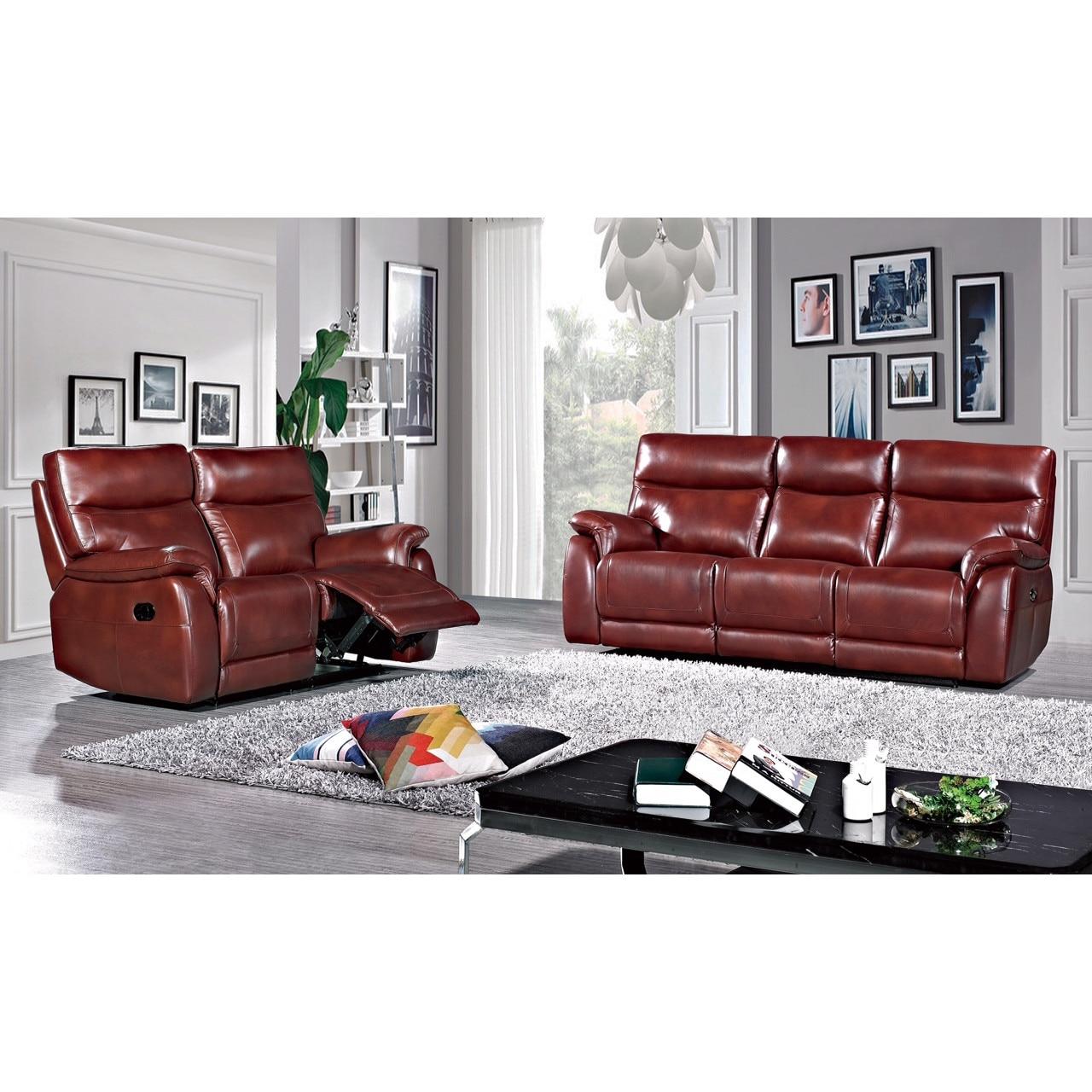 Bőr kanapé szett Md. 3478, 3 személyes kanapé 2 elektromos dönthető ülőhellyel és 2 személyes kanapé 2 manuálisan dönthető ülőhellyel cdXBmt