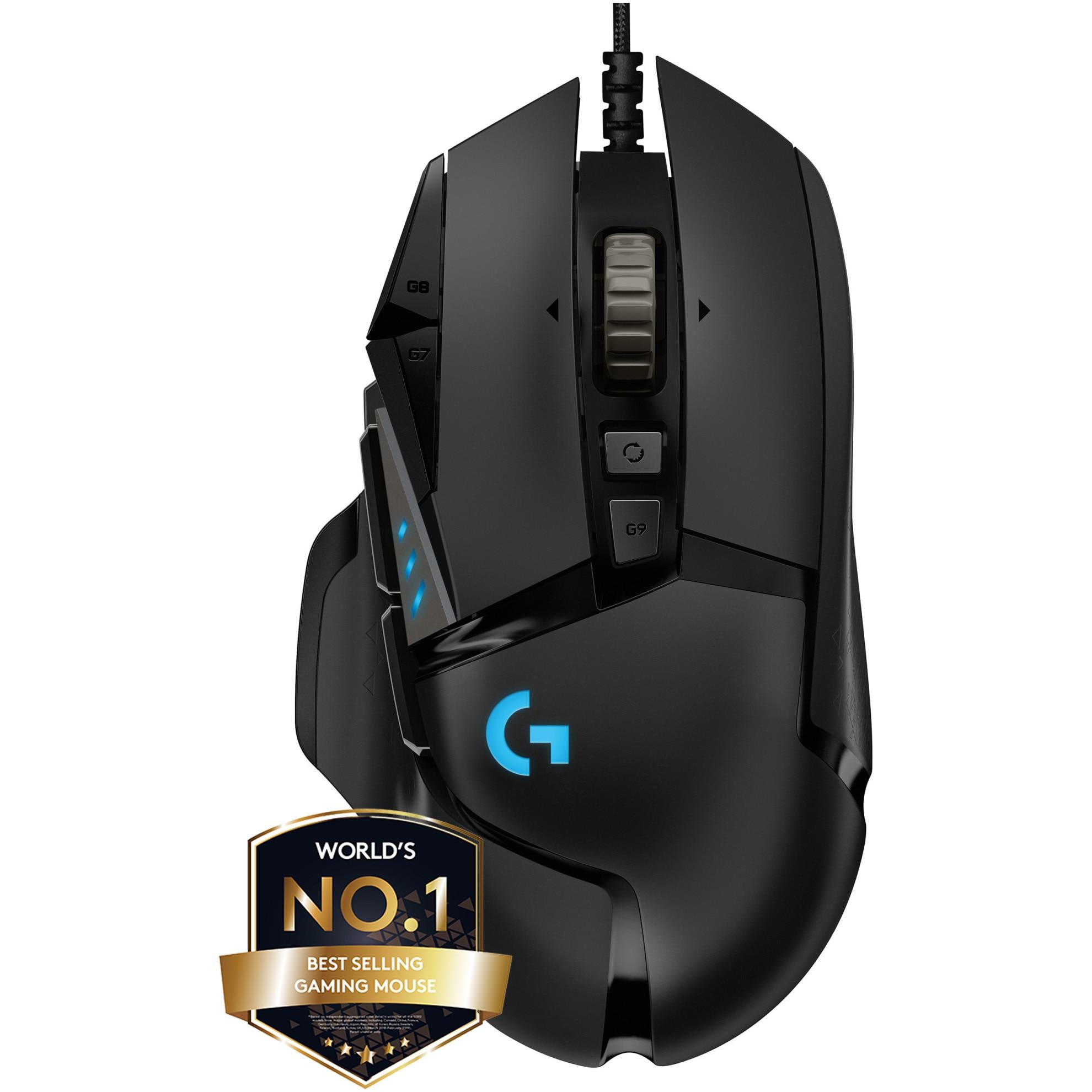 Fotografie Mouse gaming Logitech G502 Hero 16K DPI, Negru