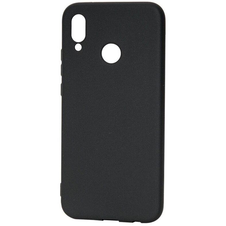 Fotografie Husa de protectie Lemontti Silky pentru Huawei P20 Lite, Black