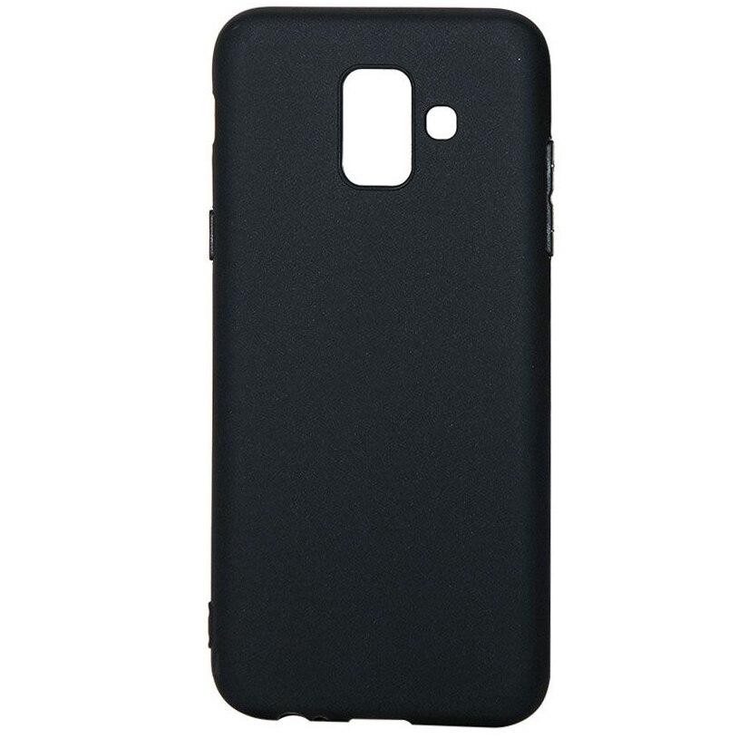 Fotografie Husa de protectie Lemontti Silky pentru Samsung Galaxy A6 2018, Black