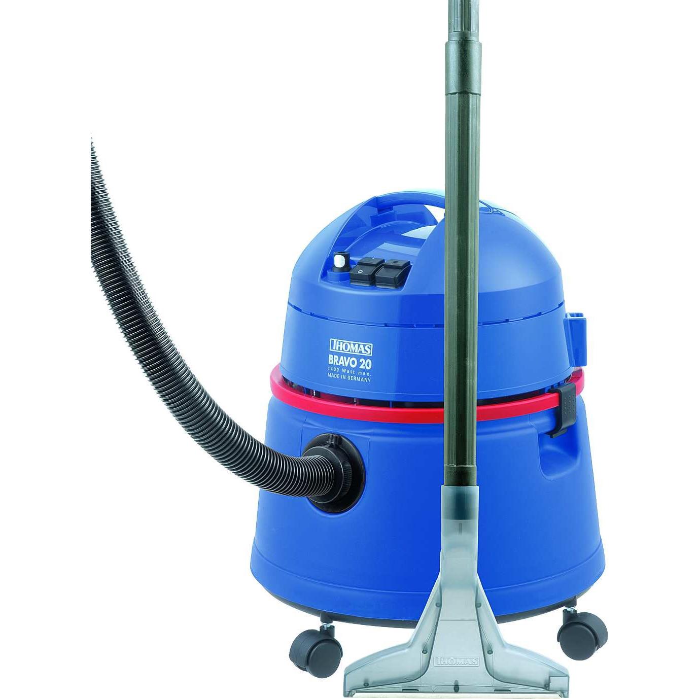 Fotografie Aspirator fara sac Thomas Bravo 20 788074, 1400 W, sistem special cu presiune de pulverizare, Albastru