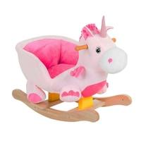 Rózsaszín unikornis hintaló üléssel, hanggal