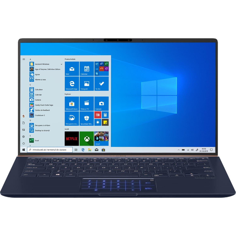 "Fotografie Ultrabook ASUS ZenBook UX433FA-A5085T cu procesor Intel® Core™ i7-8565U pana la 4.60 GHz, Whiskey Lake, 14"", Full HD, 8GB, 256GB SSD, Intel® UHD Graphics 620, Microsoft Windows 10, Royal Blue"