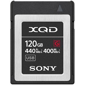 Carduri memorie Sony XQD seria G 120GB, R 440MB/s, W 400MB/s