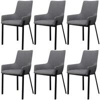 vidaXL 6 darab szövet étkező szék világosszürke