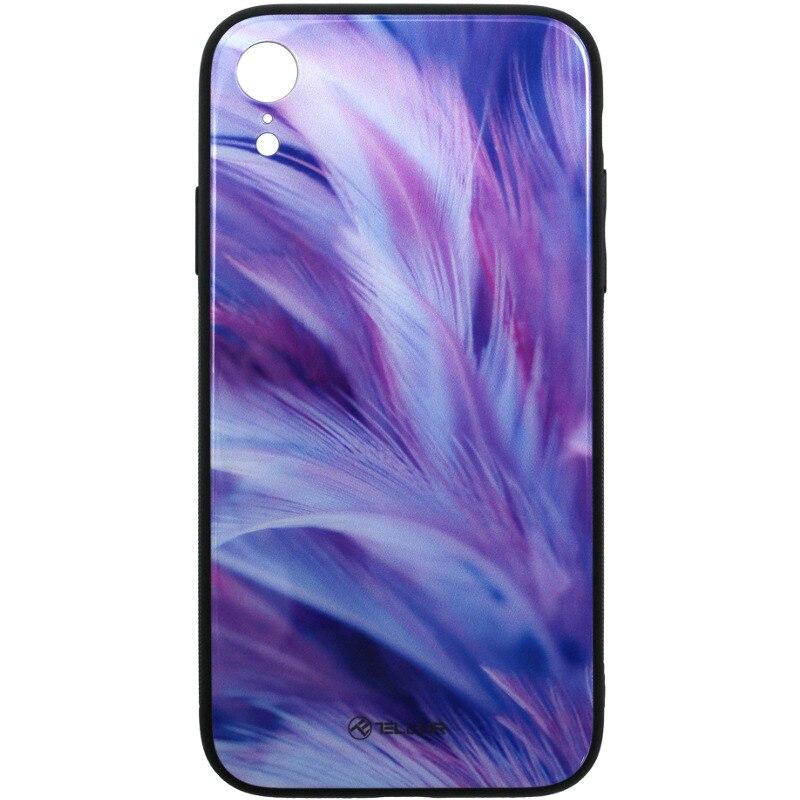 Fotografie Husa de protectie Tellur Glass print pentru Apple iPhone XR, Feather