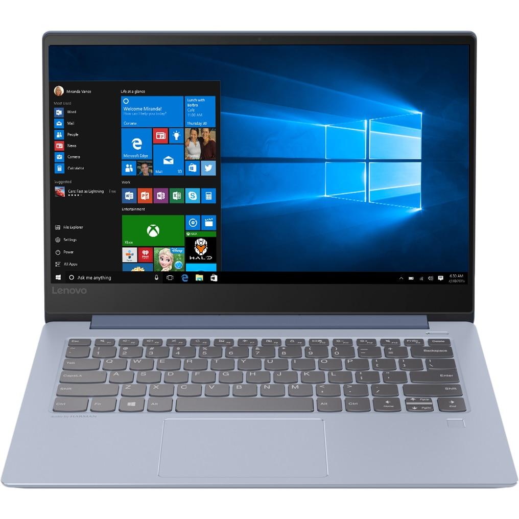 """Fotografie Laptop ultraportabil Lenovo IdeaPad 530S-14IKB cu procesor Intel® Core™ i7-8550U pana la 4.00 GHz, Kaby Lake R, 14"""", WQHD, IPS, 16GB, 512GB SSD, NVIDIA GeForce MX150 2GB, Microsoft Windows 10, Liquid Blue"""