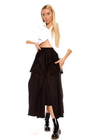 Асиметрична пола Mshine в черно