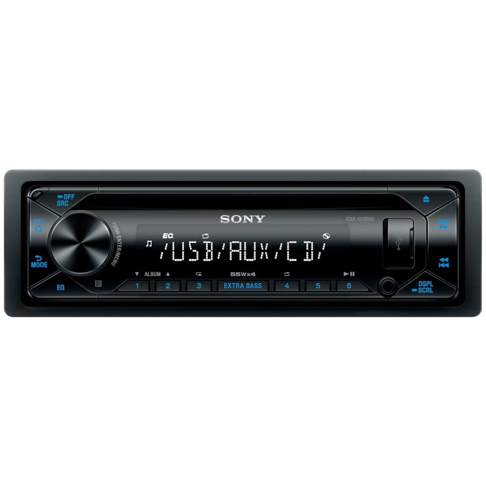 Fotografie Radio MP3 Player auto Sony CDXG1301U.EUR ,4 x 55W, MP3, WMA, FLAC, USB, AUX