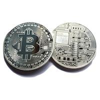 Монета Martbg Bitcoin, Биткоин Silver, в защитна капсула