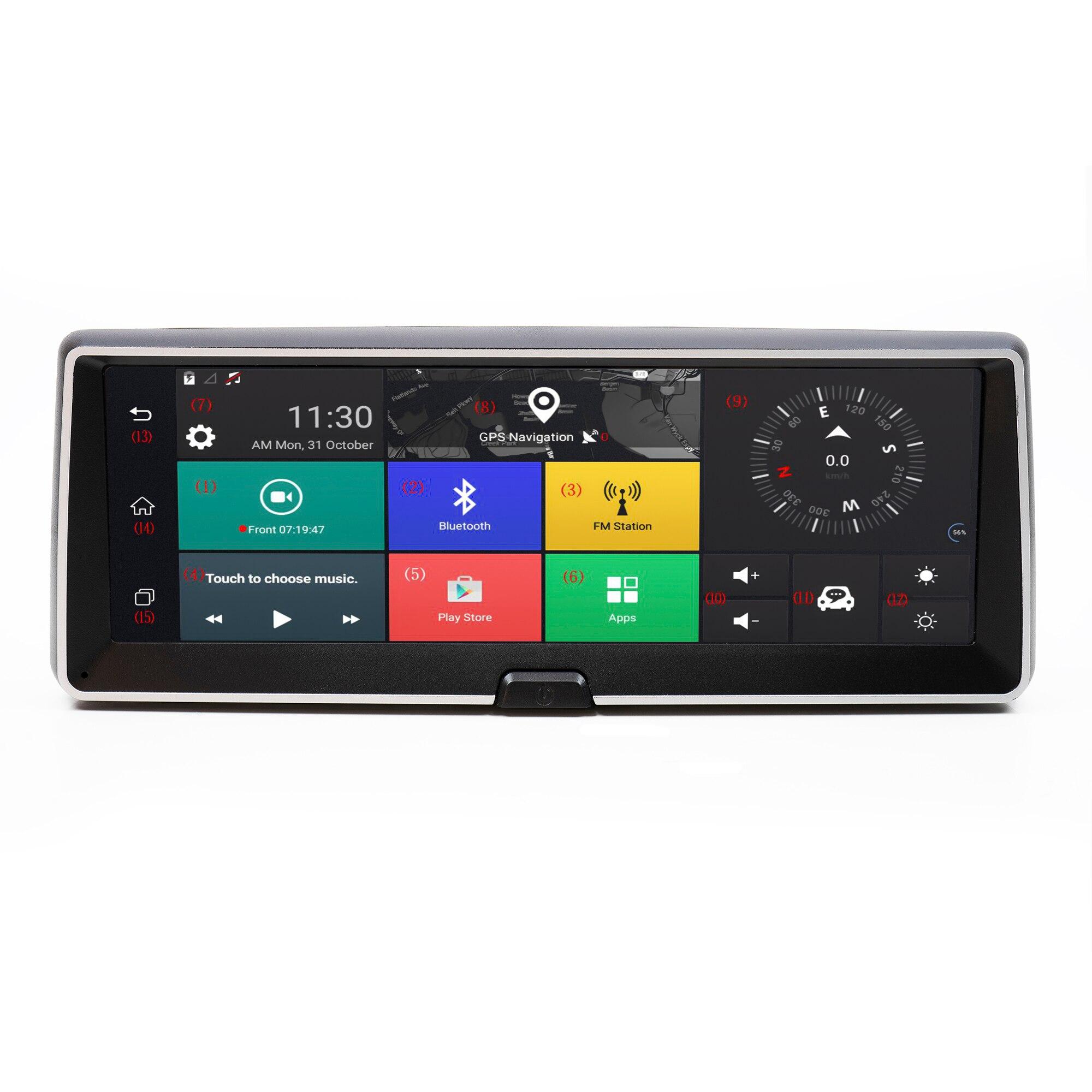 Fotografie Sistem de navigatie PNI DH706 cu GSM, 4G, Android si DVR auto, display 7 inch, smart GPS, 1 GB RAM, camera mers inapoi incluse