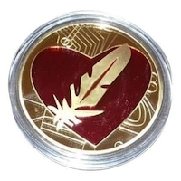 Монета Martbg LOVE, сърце и перо