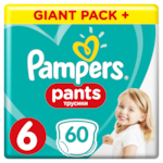 Pampers Pants Giant Pack+ nadrágpelenka, 6-ös méret, 15+ kg, 60 db