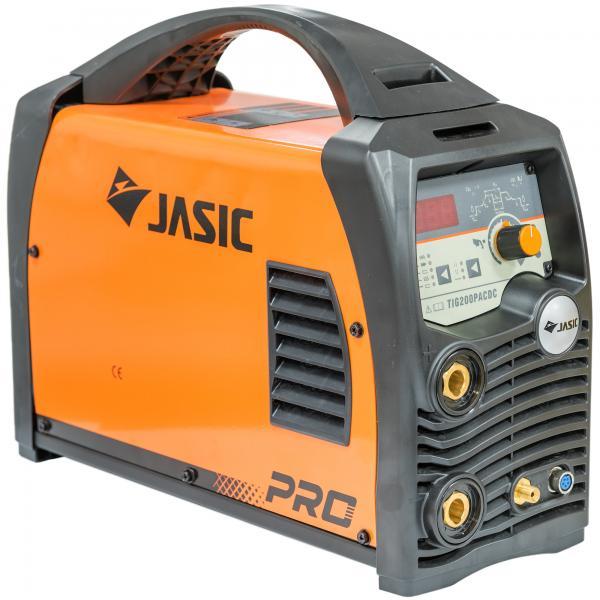 Fotografie Invertor de sudura profesional Jasic TIG/MMA 200 PULSE AC/DC, 230 V, 1.6-3.2 mm, accesorii sudura TIG