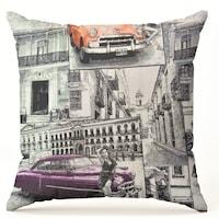 """Калъфка за декоративна възглавница Текстил Антило """"Лилава кола"""", 45x45 см."""