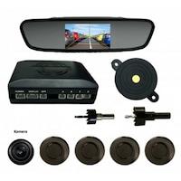 Tolató kamera/radar szett, tükörbe épített kijelzővel