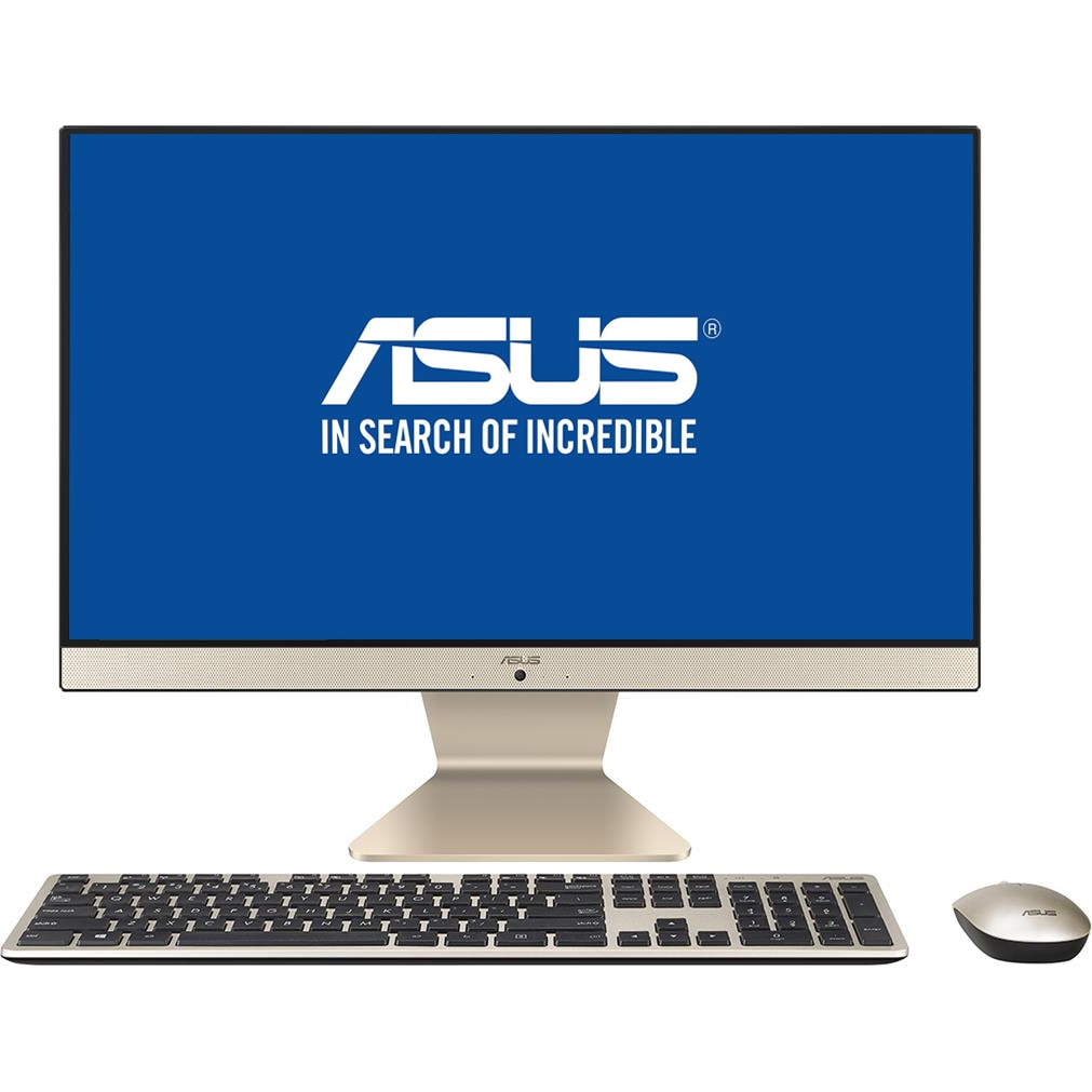 "Fotografie Sistem All-in-One ASUS V222GAK cu procesor Intel® Pentium® Silver J5005 pana la 2.80 GHz, Gemini Lake, 21.5"", Full HD, IPS, 4GB DDR4, 256GB SSD, Intel® UHD Graphics 605, Endless OS, Black, Mouse + Tastatura"