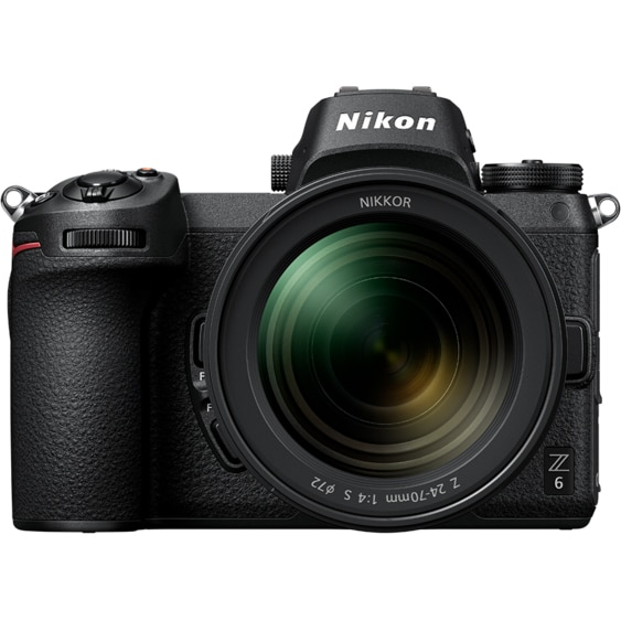 Fotografie Aparat foto Mirrorless Nikon Z6, Full-Frame,24.5 MP, 4K, Wi-Fi, Negru + Adaptor FTZ + Obiectiv 24-70mm
