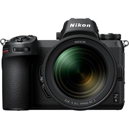 Nikon Z6 mirrorless fényképezőgép, Full-Frame, 24.5 MP, 4K, Wi-Fi, Fekete + 24-70mm f/4 S objektív