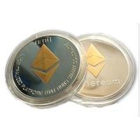 Монета Ethereum, в защитна капсула, сребрист