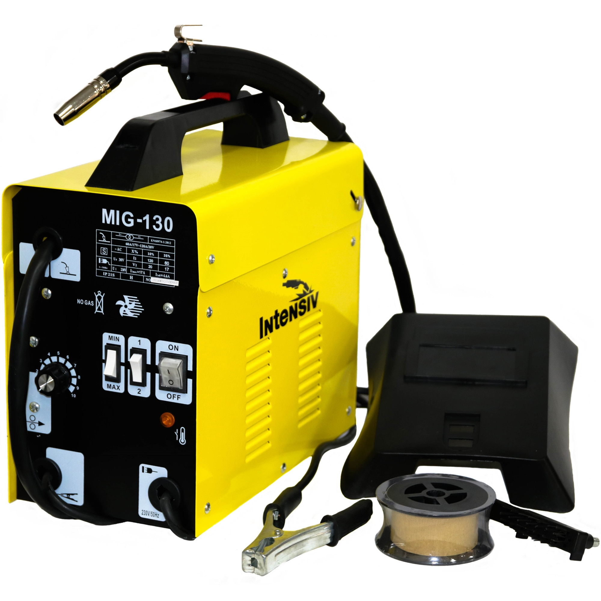 Fotografie Aparat sudura Intensiv MIG-MAG 130, 230 V, 120 A, protectie termica, accesorii incluse